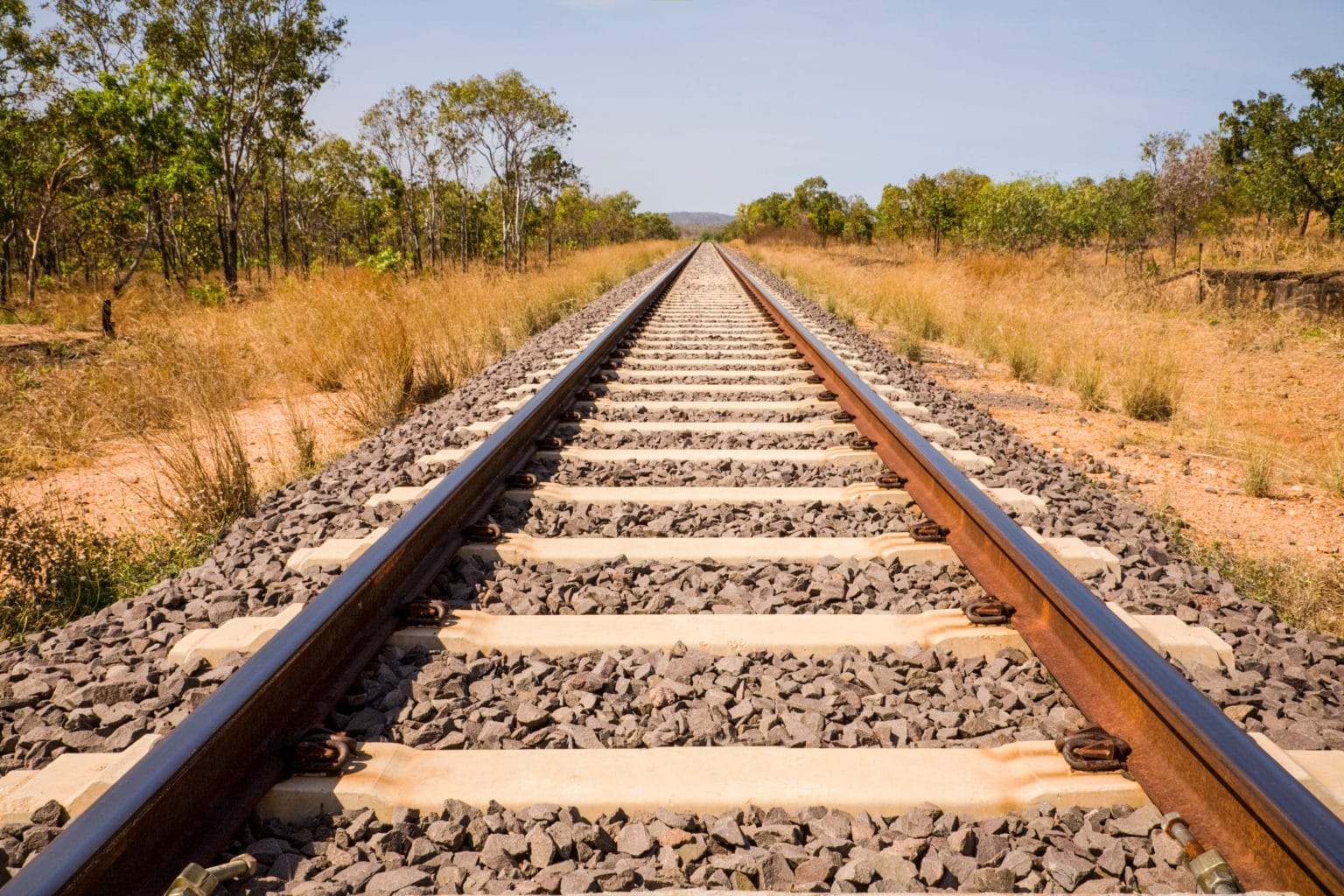 Railway Track Australia Outback